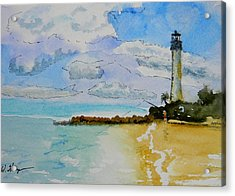 Cape Florida Lighthouse Acrylic Print by Warren Thompson