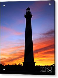 Acrylic Print featuring the photograph Cape Hatteras Sunset by Tony Cooper