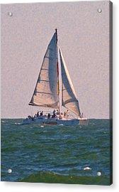 Cape Lookout Sailboat Acrylic Print