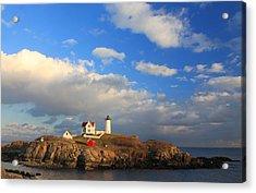Cape Neddick Nubble Lighthouse Maine Acrylic Print by John Burk