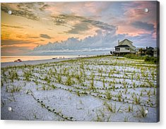Cape San Blas Sunset Acrylic Print by Ray Devlin