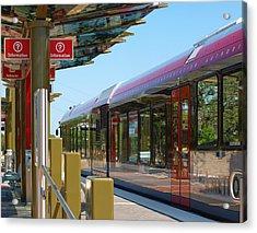 Capital Metro Rail Austin Texas Acrylic Print by James Granberry