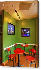 Capitol Hill Cafe Acrylic Print by Steven Ainsworth