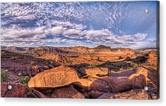 Capitol Reef Sunset Acrylic Print by Stephen Campbell
