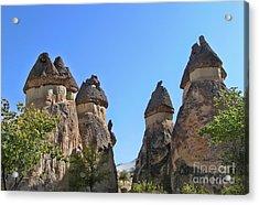 Capped Rock Formations Of Cappadocia Acrylic Print