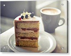 Cappuccino And Cake Acrylic Print