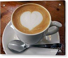 Cappuccino With A Heart Acrylic Print by Alexandra Jordankova