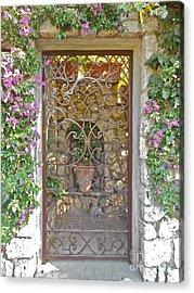 Capri-timeless Gate Acrylic Print