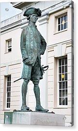 Captain James Cook, British Explorer Acrylic Print by Sheila Terry