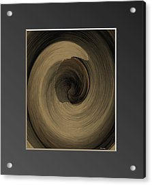 Capuccino Acrylic Print by Ines Garay-Colomba