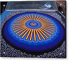 Car Hood Of Yarn Acrylic Print by Kym Backland