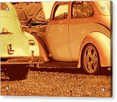 Car Show Acrylic Print by Ann Powell