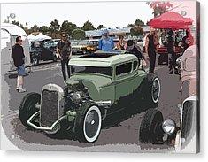 Car Show Coupe Acrylic Print by Steve McKinzie