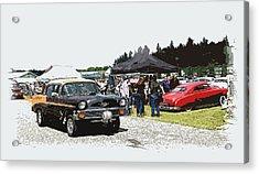 Car Show Gasser Acrylic Print by Steve McKinzie