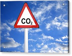 Carbon Dioxide And Global Warming Acrylic Print by Victor De Schwanberg