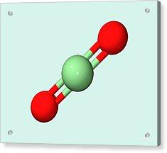 Carbon Dioxide Molecule Acrylic Print by Dr Tim Evans