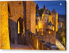 Carcassonne Ramparts Acrylic Print by Brian Jannsen