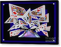 Card Tricks Acrylic Print by Bob Christopher