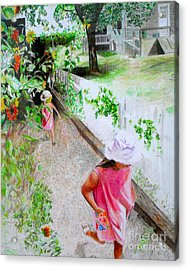 Acrylic Print featuring the drawing Carefree by Beth Saffer
