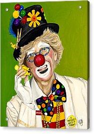 Careful The Clown Acrylic Print