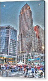 Carew Tower From Fountain Square Acrylic Print