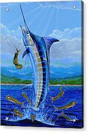 Caribbean Blue Acrylic Print by Carey Chen