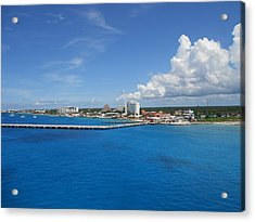 Acrylic Print featuring the photograph Caribbean Blue by Sheila Silverstein