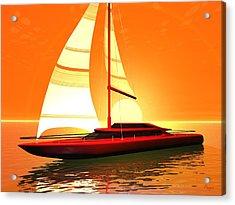 Acrylic Print featuring the digital art Caribbean Cruiser by John Pangia