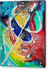 Acrylic Print featuring the painting Caribbean Maelstrom by Christine Ricker Brandt