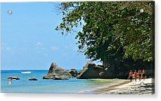Caribe Beach Acrylic Print by Jenny Senra Pampin