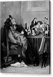 Caricature Of Hypochondriac, 1833 Acrylic Print by Science Source
