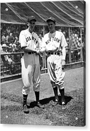 Carl Hubbell & Vernon Lefty Gomez Acrylic Print by Everett