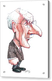 Carl Jung, Caricature Acrylic Print by Gary Brown