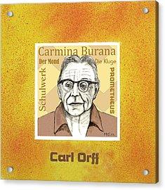 Carl Orff Acrylic Print by Paul Helm