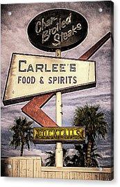Carlees Food And Spirits Acrylic Print by Ron Regalado