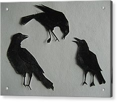 Carl's Crows Acrylic Print