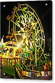 Carnival Ferris Wheel Acrylic Print by Gregory Dyer