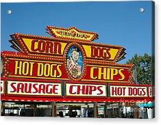 Carnival Festival Fun Fair Hot Dog Stand Acrylic Print by Kathy Fornal