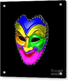 Acrylic Print featuring the photograph Carnival Mask by Blair Stuart