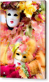 Acrylic Print featuring the photograph Carnival Mask by Luciano Mortula