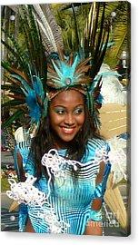 Carnival Moments. Blue Flower Acrylic Print by Anna  Duyunova