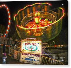Carnival Ride - The Round Up Acrylic Print by Gregory Dyer