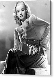 Carole Landis, Publicity Shot, Ca. 1944 Acrylic Print by Everett