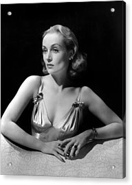 Carole Lombard In Publicity For Vigil Acrylic Print by Everett