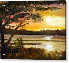 Carolina Sunset Acrylic Print by Phil Burton