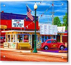 Carol's Corner Acrylic Print by Mike OBrien