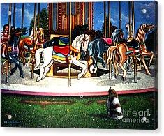 Carousel Center Detail Acrylic Print