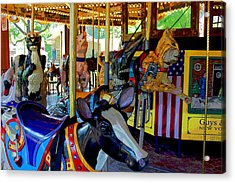 Carousel Fun Acrylic Print by Bob Whitt
