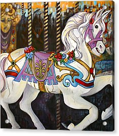 Carousel Horse Hull Massachusetts Acrylic Print