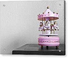 Carousel Toy  Acrylic Print by Natee Srisuk